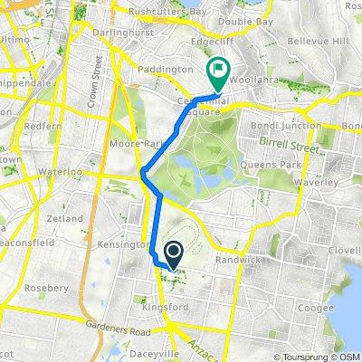 2 High Street, Kensington to 61 Moncur Street, Woollahra