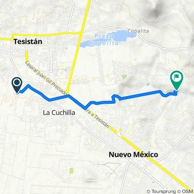 Route from Privada Galicia, Tesistán