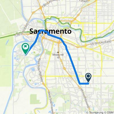7522 Debutante Ln, Sacramento to 3330 Jefferson Blvd, West Sacramento