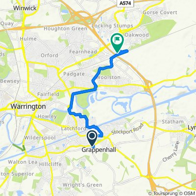 Elm Cottage, Stockton Lane, Warrington to 861 Birchwood Blvd, Warrington