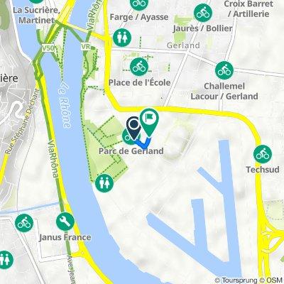 De 26–28 Allée Pierre de Coubertin, Lyon à 350 Avenue Jean Jaurès, Lyon