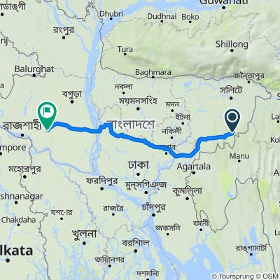 Unnamed Road, Shamshernagar to Dhaka - Natore Highway