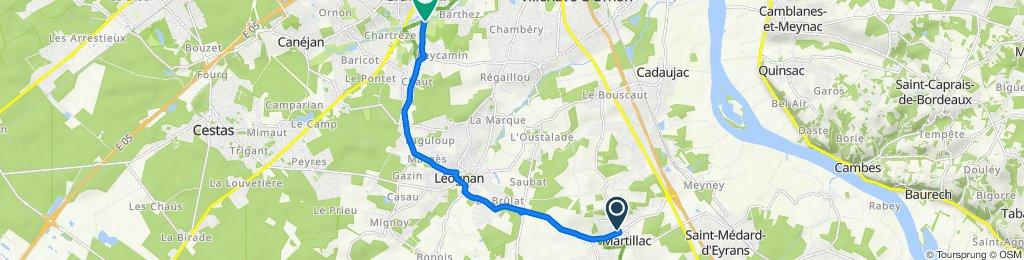 De 6 Route de Cadaujac, Martillac à Allée de Pfungstadt, Gradignan