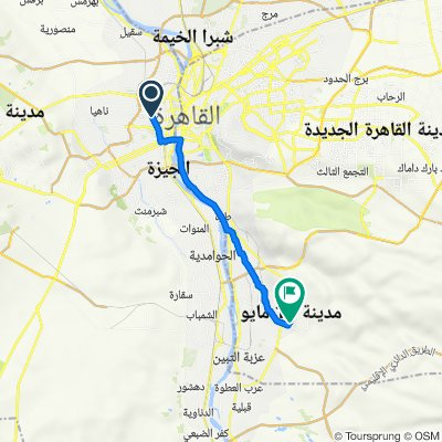 سيد محمد علي 12, بولاق الدكرور to طريق الي السنترال وجهازمدي