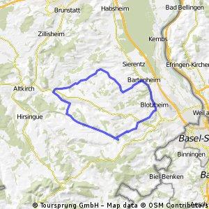 Route Blotzheim - Römerweg