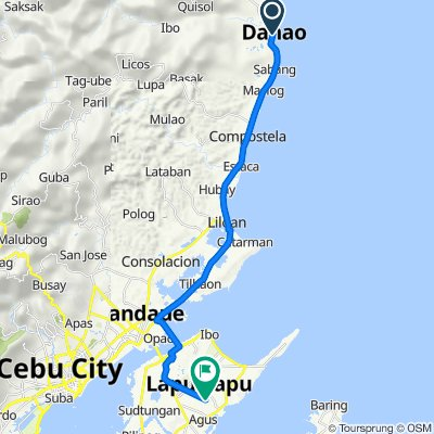 Central Nautical Highway 1349, Danao City to Unnamed Road, Lapu-Lapu City