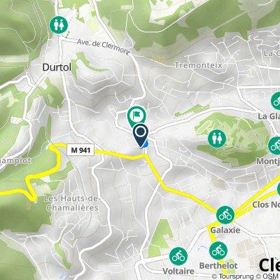 De 83 Rue de Durtol, Clermont-Ferrand à 78 Avenue du Limousin, Clermont-Ferrand