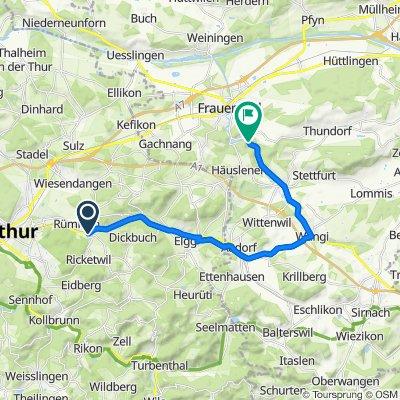 Schlatterstrasse 1, Elsau nach Sankt Gallerstrasse 162, Matzingen