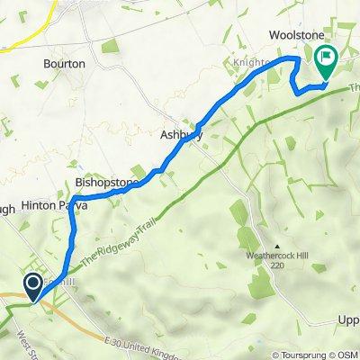 The Ridgeway, Foxhill, Swindon to Dragon Hill Road, Uffington, Faringdon