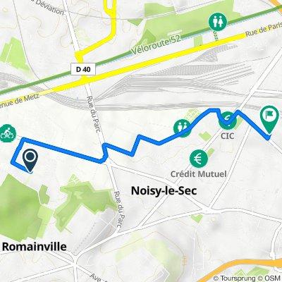 De 25 Rue des Chantaloups, Romainville à 5 Allée des Pavillons, Noisy-le-Sec