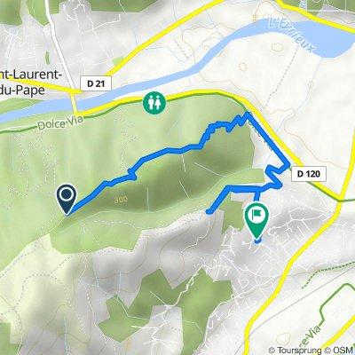 De Unnamed Road, Saint-Laurent-du-Pape à Montée des Sources 1, La Voulte-sur-Rhône