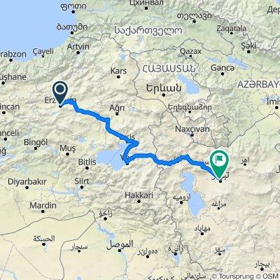 Cemal Gürsel Caddesi 2 to Bolvar-e-Azadegan-e-Jonubi, Tabriz