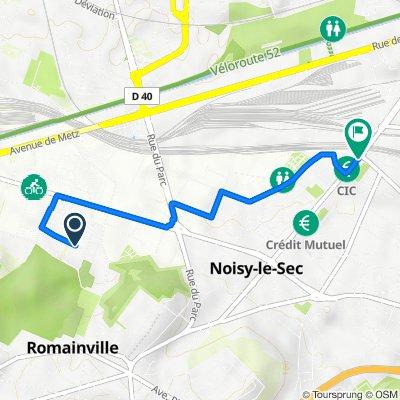Itinéraire à partir de 15 Rue des Chantaloups, Romainville