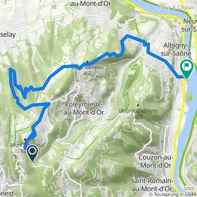 De Route du Mont Verdun, Limonest à 11 Avenue Henri Barbusse, Albigny-sur-Saône