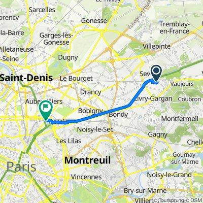 De 4 Rue Jules Ferry, Sevran à 37 Avenue Corentin Cariou, Paris