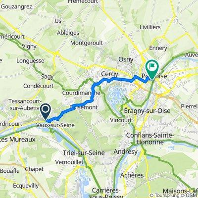 De Chemin des Champeaux 6, Vaux-sur-Seine à Rue Sere-Depoin 5, Pontoise