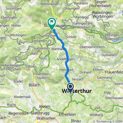 Nägelseestrasse 30, Winterthur nach Zentralstrasse 30, Neuhausen