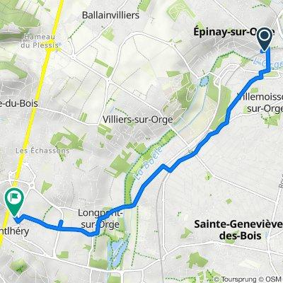 Itinéraire vers 5–7 Rue de Paris, Montlhéry