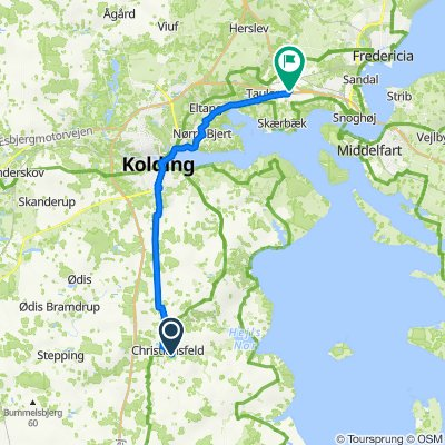 Fredericia via frishop kort rute