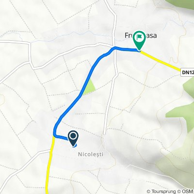 Route to DN12A, Frumoasa