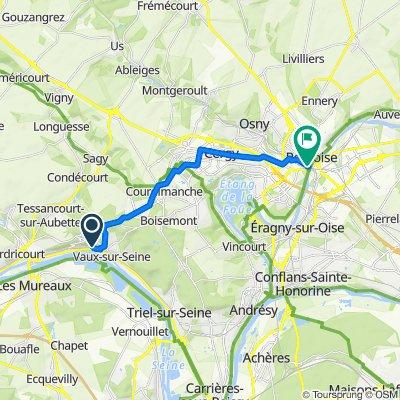 De Chemin des Champeaux 4, Vaux-sur-Seine à Rue Sere-Depoin 5, Pontoise