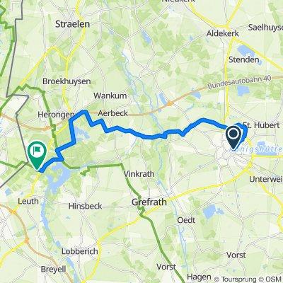 Radtour Kempen Bahnhof nach Groote Heide