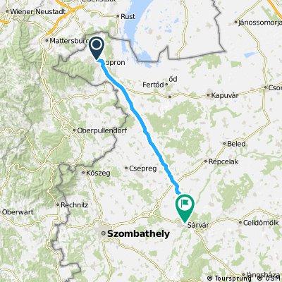 1989 - In den Südosten Europas - 04. Tag - Sopron - Sárvár