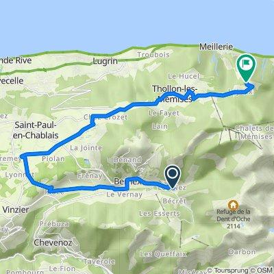 Itinéraire à partir de 110 Impasse des Sources, Bernex