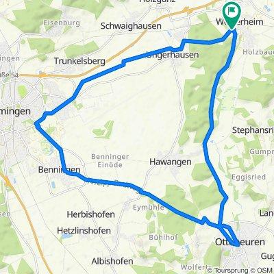 Allgäu-Günz Bahndamm Ottobeuren - Runde