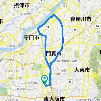 15-23, Inadauemachi 1-Chōme, Higashiosaka to 14-5, Inadauemachi 1-Chōme, Higashiosaka