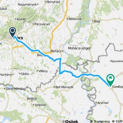1989 - In den Südosten Europas - 07. Tag - Pécs - Sombor