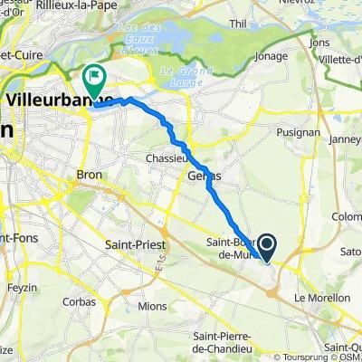 De 34 Rue de la Croix Blanche, Saint-Laurent-de-Mure à 7 Rue Javelot, Vaulx-en-Velin