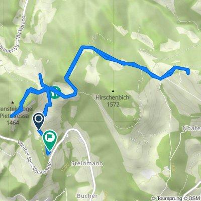 Rotensteinweg 3, Vöran nach Vöraner Strasse 14, Hafling