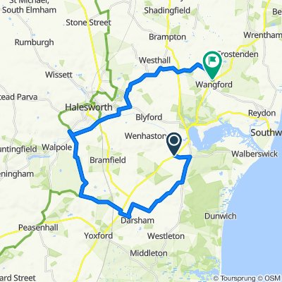 Walberswick Road, Blythburgh, Halesworth to Wangford Road, Wangford, Beccles