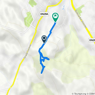 Route to Strada Alexandru cel Bun 7, Dorohoi