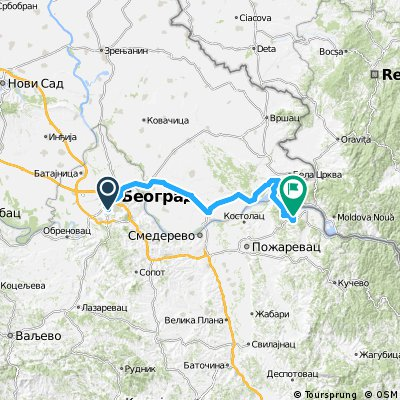 1989 - In den Südosten Europas - 10. Tag - Belgrad - Veliko Gradište