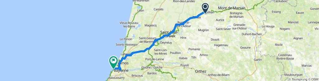 De 12 Route des Pins, Carcarès-Sainte-Croix à 2 Esplanade des Gascons, Anglet