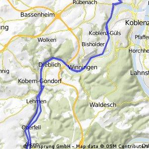Koblenzer Moselkarussell - RTF der Radtouristik-Freunde Koblenz e.V. - 46 km Strecke
