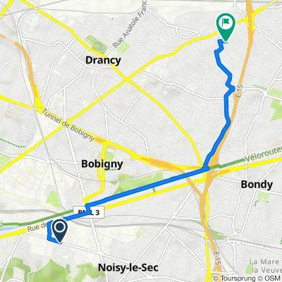 De 130 Avenue Gaston Roussel, Romainville à 11 Place du Berry, Le Blanc-Mesnil
