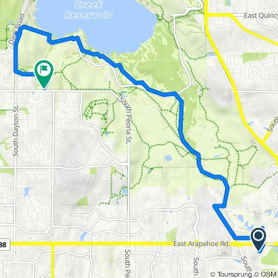 6790 S Dawson Cir, Centennial to 10315–10393 E Belleview Ave, Greenwood Village