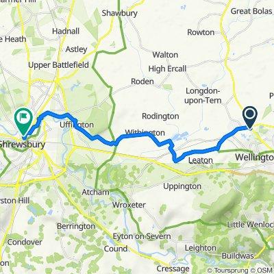 46 McCormick Dr, Telford and Wrekin to Cross St, Shrewsbury