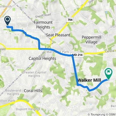 4601 Hunt Pl NE, Washington to 7501–7535 Walker Mill Rd, Capitol Heights