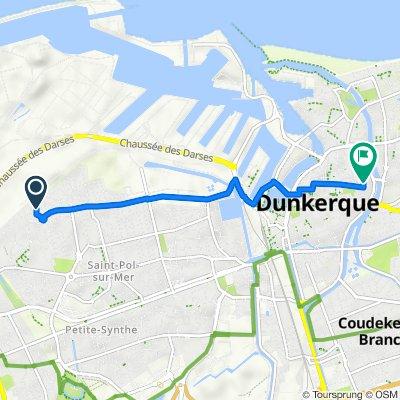 De Rue des Tulipes 29 à Rue du Nouvel Arsenal 1, Dunkerque