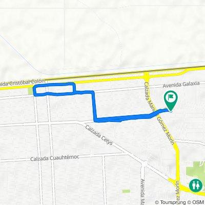De Avenida Ramón Corona 1784, Mexicali a Avenida Ramón Corona 1792, Mexicali