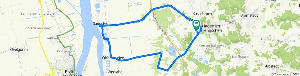 Feldstraße 14, Hagen im Bremischen nach Feldstraße 3, Hagen im Bremischen