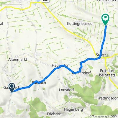 Gaubitsch 58, Gaubitsch nach Bahnhof Staatz 2, Staatz