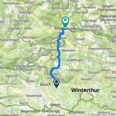 Dorfstrasse 58–64, Embrach nach Stadthausgasse 19, Schaffhausen