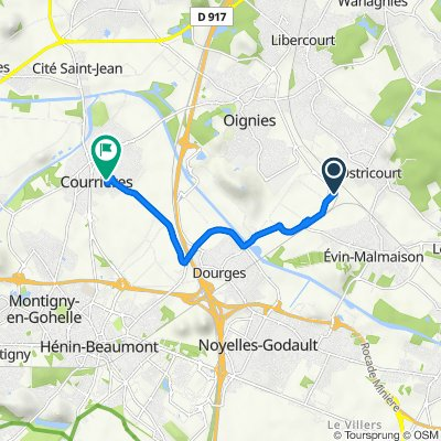 De 410 Rue de la Cuve, Ostricourt à 7 Chemin de Douai, Courrières