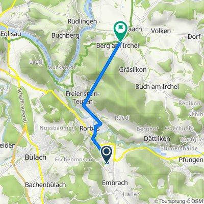 Illingerstrasse 7, Embrach nach Dorfstrasse 1, Berg am Irchel