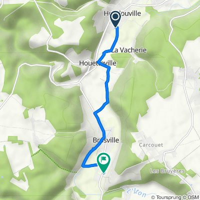 De Rue Valois 16, Hondouville à Rue du Hom 8, Brosville
